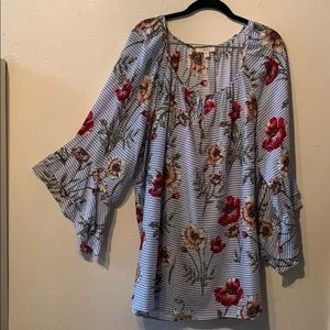 Flowy Top with Bell Sleeves